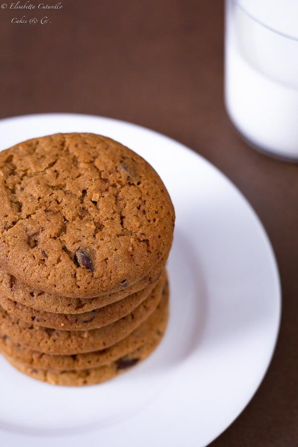 Biscotti al burro d'arachidi e cioccolato