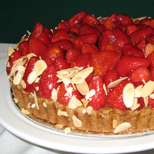 strawberry fruit flan