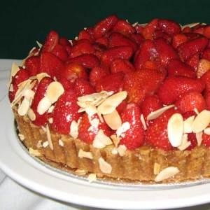 strawberry fruit flan