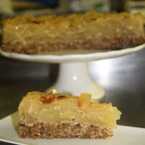 vegan apple & oat cake