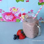 Sunday Smoothie: Aardbei Blauwe Bes Smoothie