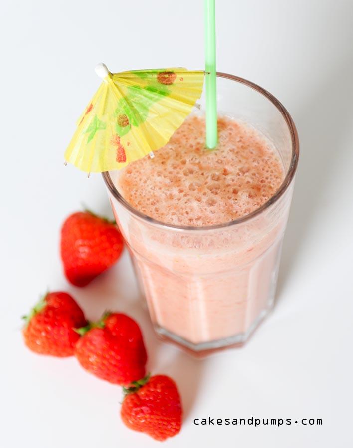 Strawberry colada smoothie