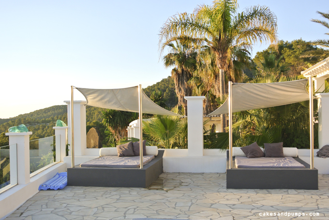 Day Beds at swimming pool Casa Blanca Ibiza