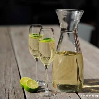 Hugo Cocktail with Martini, recipe on cakesandpumps.com