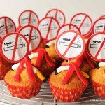 Cupcakes om mijn 1-jarige niet-roken te vieren