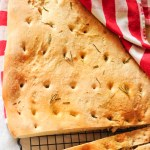 Focaccia bread with rosemary and sea salt