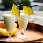 Batida met Cachaca, banaan en kokos