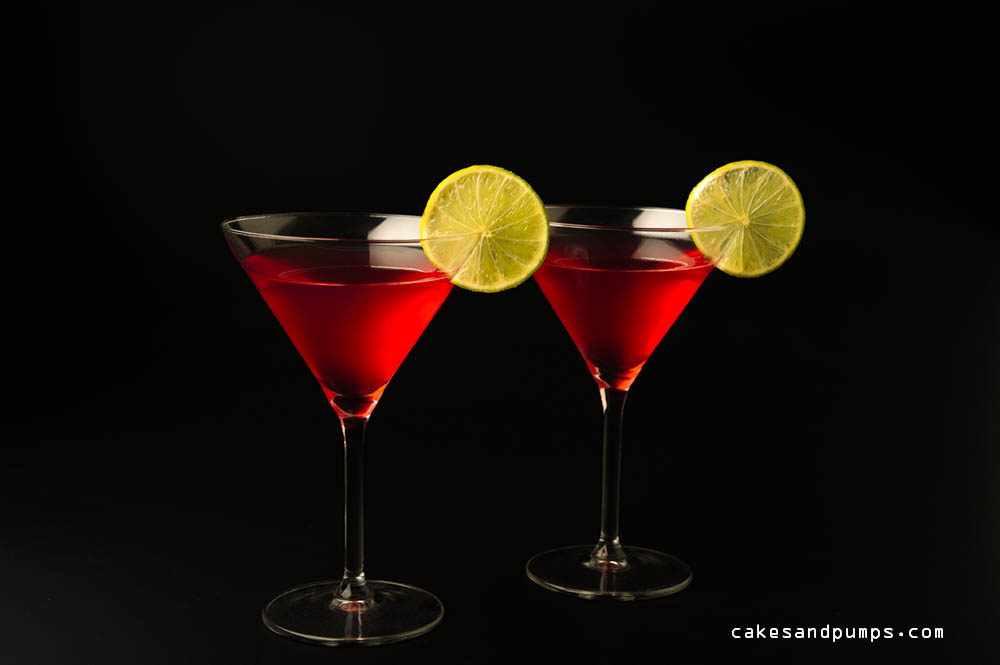 Cosmopolitan cocktail with vodka, triple sec and cranberry juice