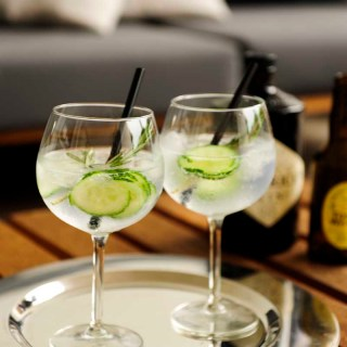 Gin and Tonic made with Hendrick's Gin and Fentimans tonic