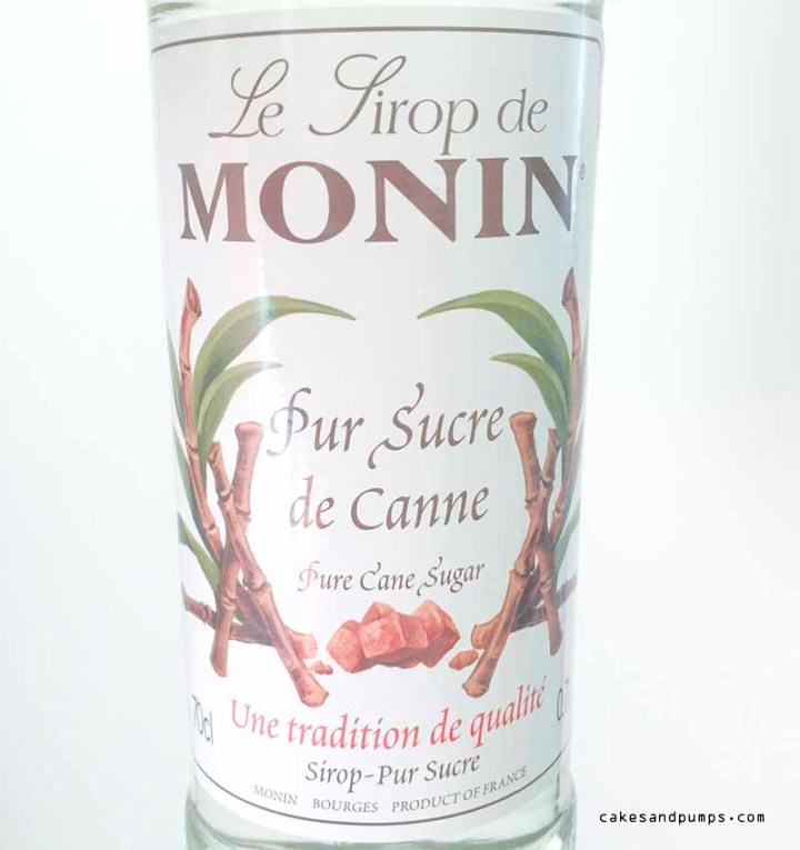 Monin sugar sirop for cocktails