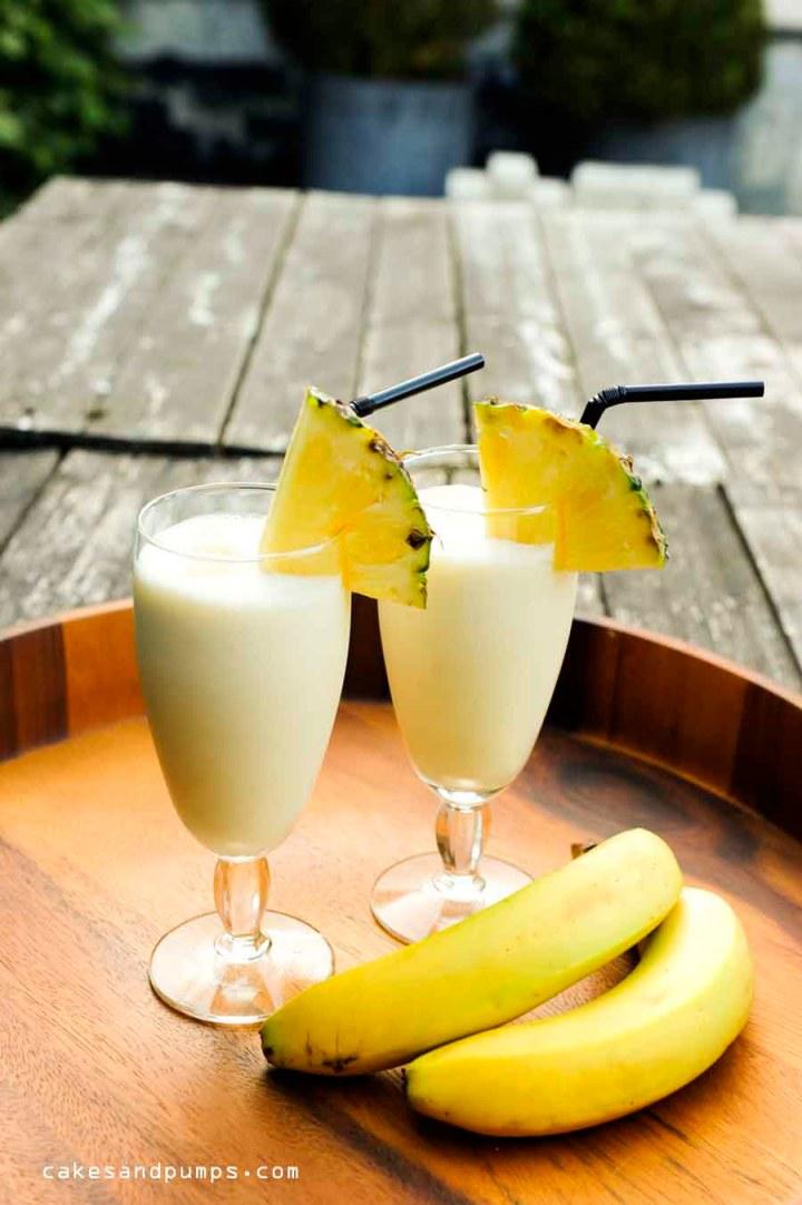 Batida de banana coco with cachaca