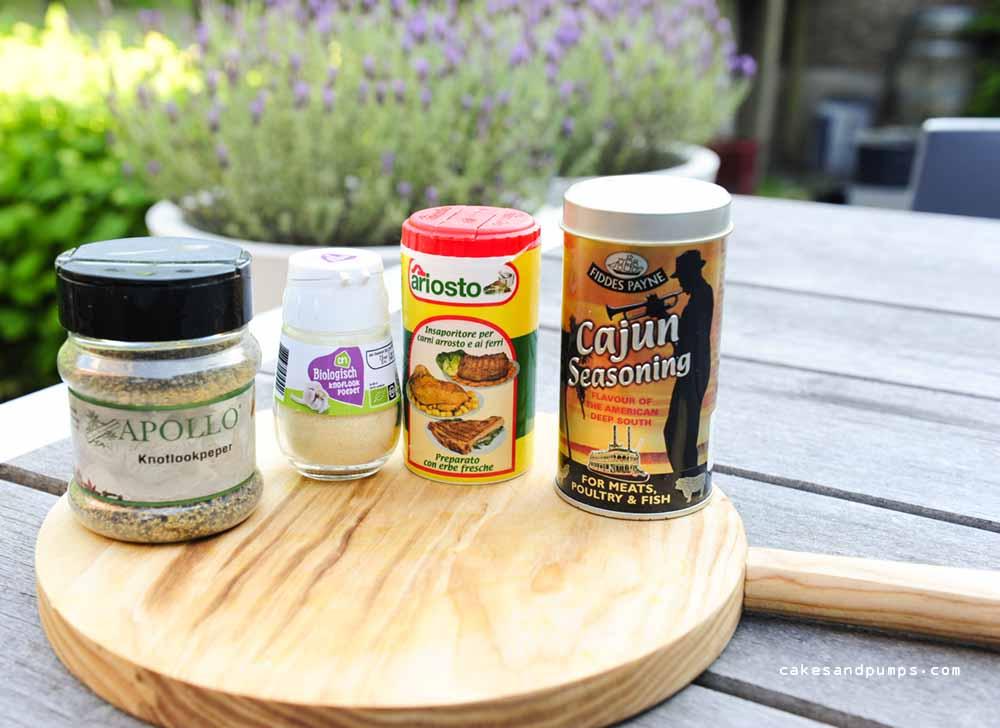 Herbs for the pork tenderloin skewers