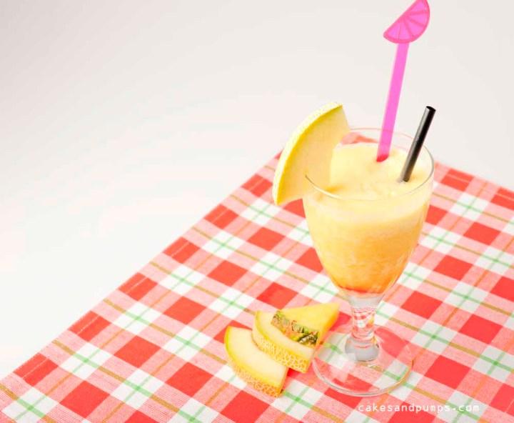 Meloen ananas smoothie voor Sunday Smoothie