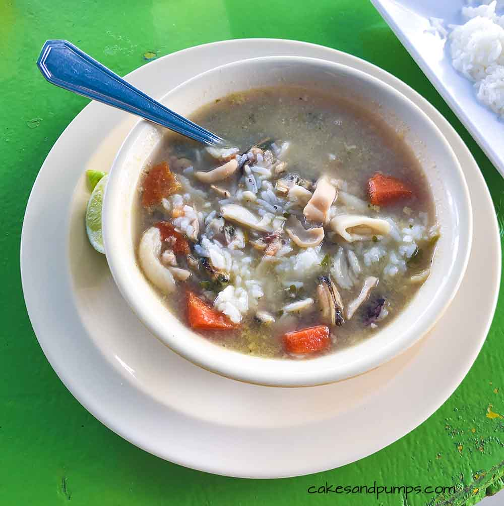 Seafood soup at Pop's place, Curacao, review on cakesandpumps.com