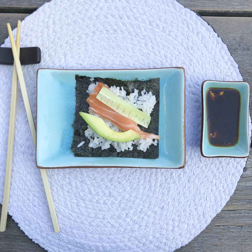 Ingredienten op de rijst - Zelf sushi maken, cakesandpumps.com