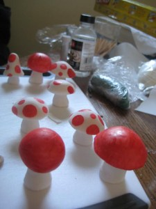 fondant mushrooms