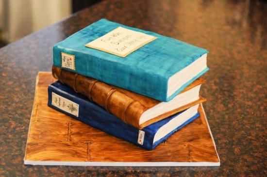 Stacked Birthday Book Cake