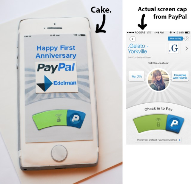 iPhone Cake for PayPal Edelman with Screen Cap