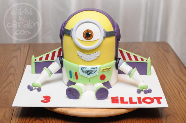 Minion Buzz Lightyear Cake