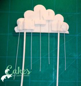 Baby Shower Raining Hearts Cloud Cake