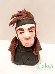 Gambit Bust Cake