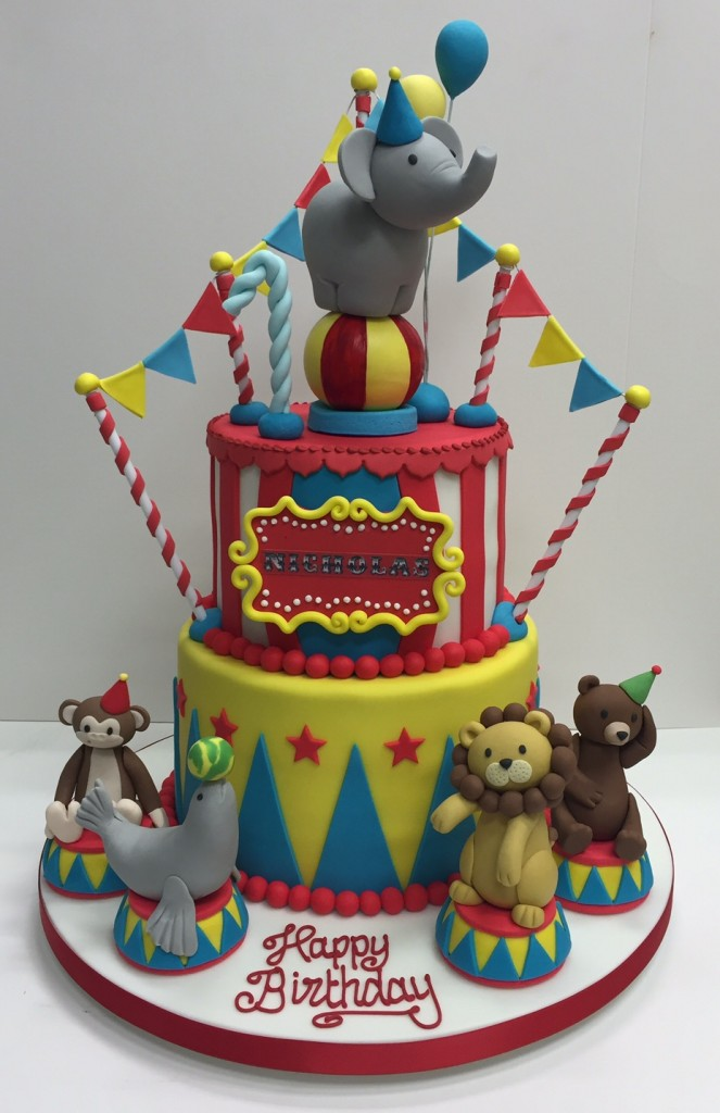 Circus Themed Childrens Birthday Party Cakes By Robin
