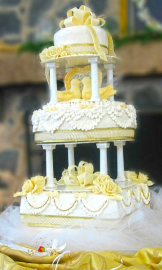birds wedding cake