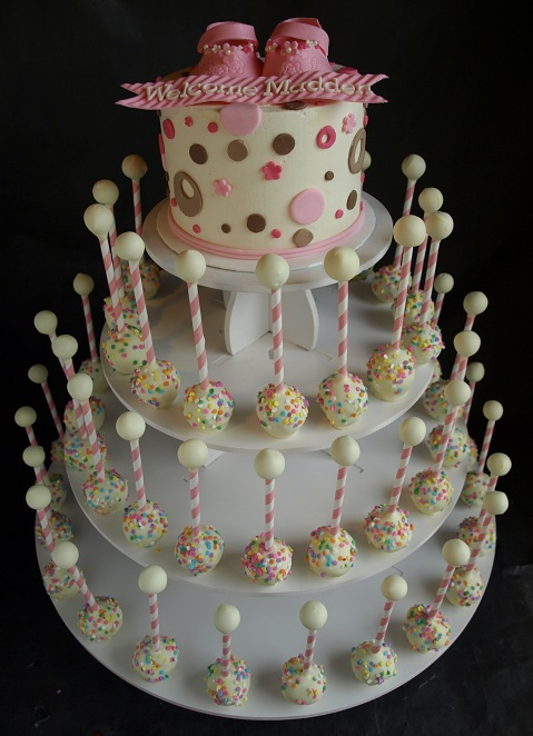Baby Shower Baby Ratte Cake Pop Tower