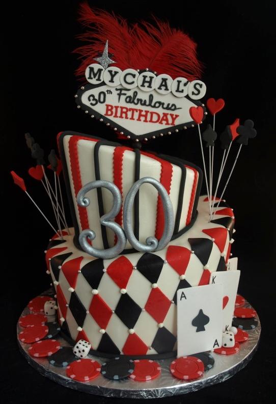 Casino Vegas Topsy Turvy Cake