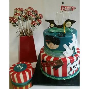 Pirate Cake Pops, Pirate Dessert Table Portland, Pirate Cake, first birthday cake, smash cake