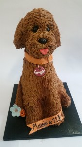 pet cake, 3D dog cake, animal cake, child birthday cake, sculpted dog cake