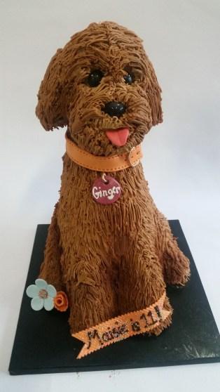 pet cake, 3D dog cake, animal cake, child birthday cake, sculpted dog cake