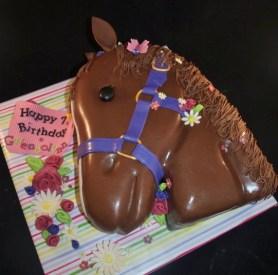 horsehead cake, girl birthday cake, sculpted cake, fondant cake, animal cake, unicorn cake