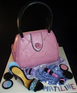 Girl birthday cake, make-up cake, 3D cake