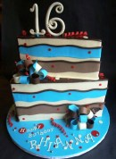 Cool kid birthday cake portland, cake wedge, teen birthday cake