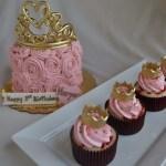 girl cupcakes portland or, kid cupcakes, pink cupcakes, crown cupcakes, tiara cupcakes