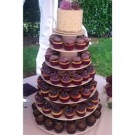 delicious cupcakes portland or, purple cupcakes, wedding cupcake tower, wilsonville or