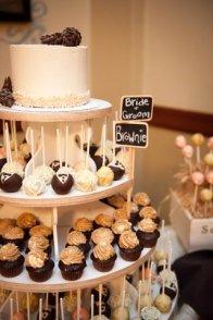 Rustic Winter Wedding Cupcake, Cake Pop & Cake Dessert Table