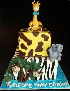 Jungle Baby Showe Cake