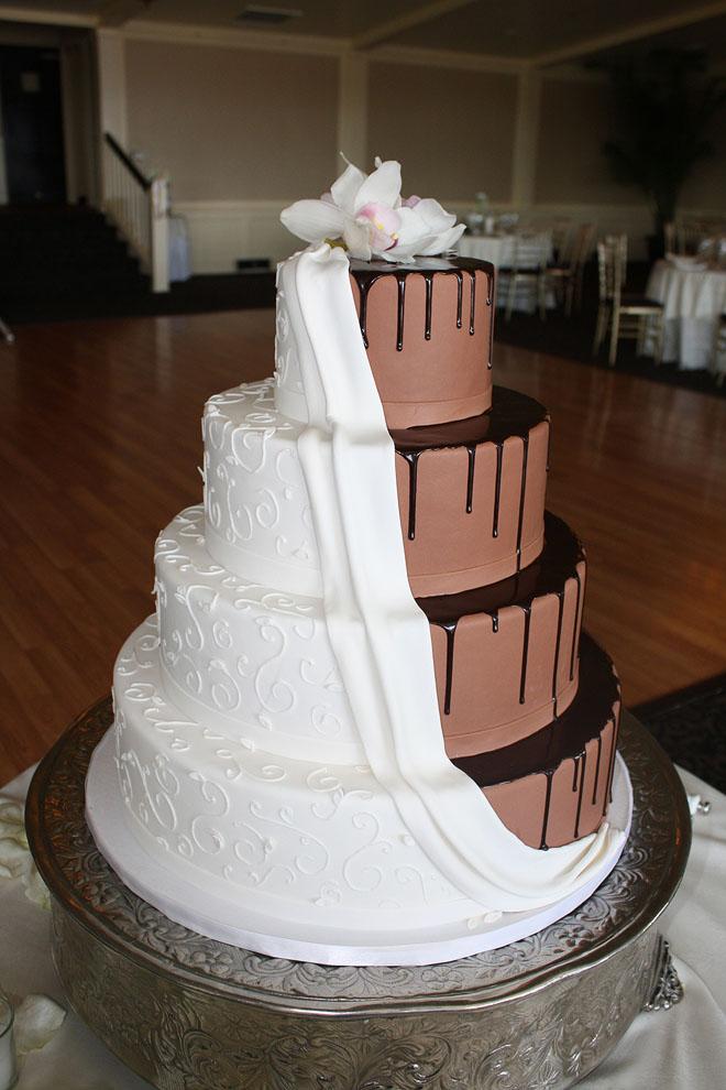 Dramatic Draped Chocolate Wedding Cake By CakeSuite