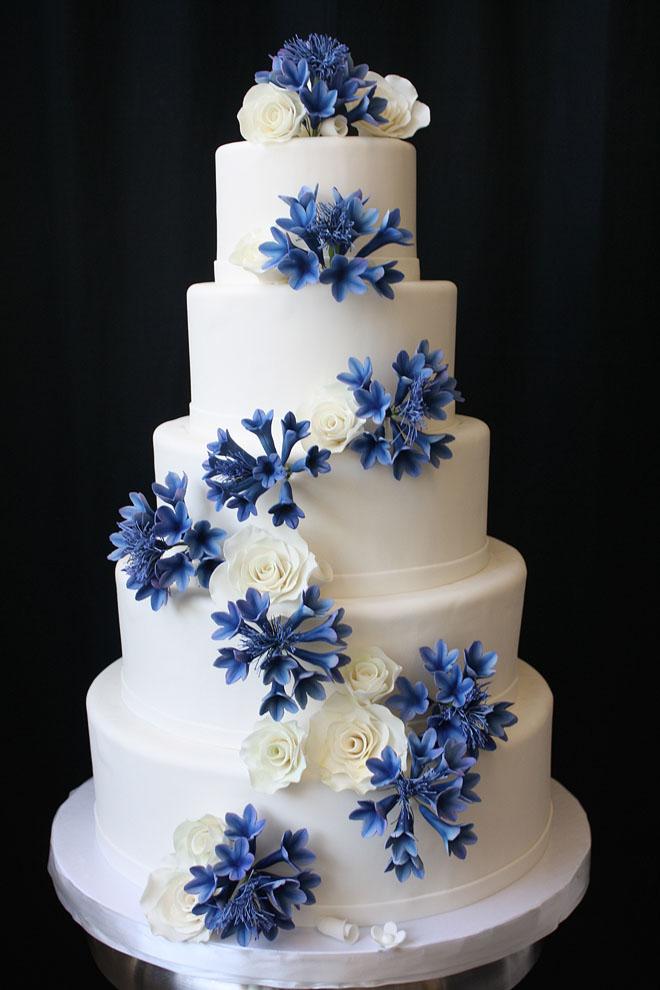 Wedding Cake With Sugar Cornflowers By CakeSuite Serving