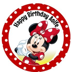 Minnie Mouse Red Edible Cake Topper