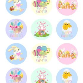 Easter Cupcake Edible Picture Topper