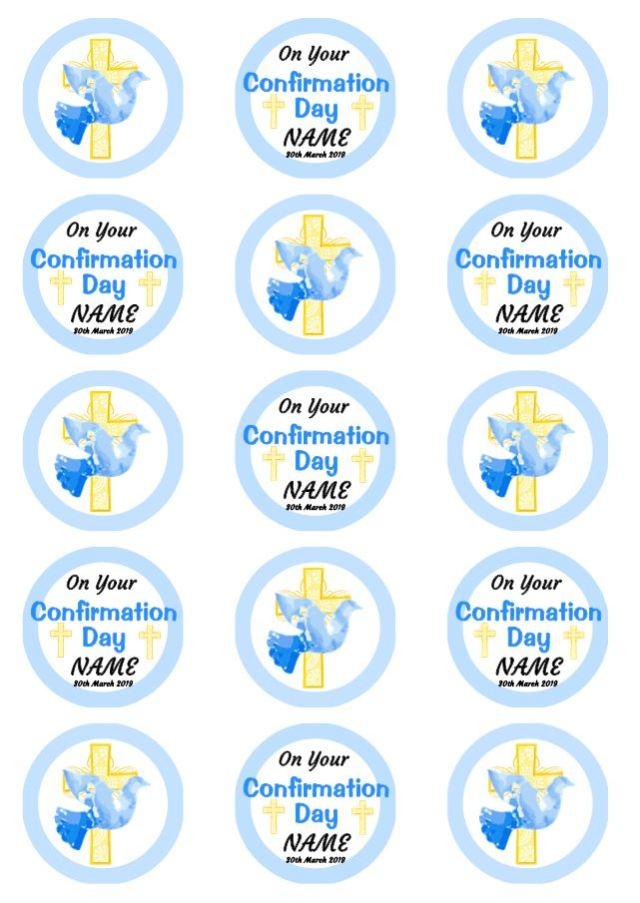 Confirmation Cupcakes Blue