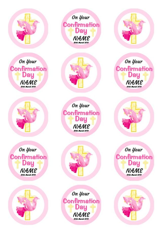 Confirmation Cupcakes Pink