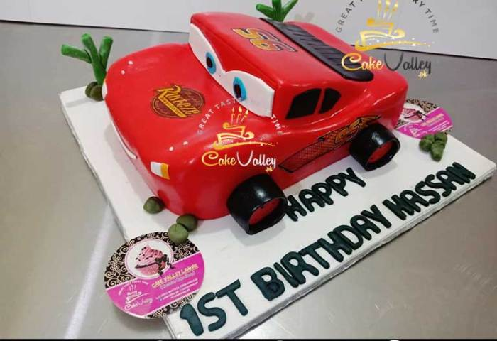 Lightning Mcqueen Car Or Cartoon Theme Cake Online Cake Order And