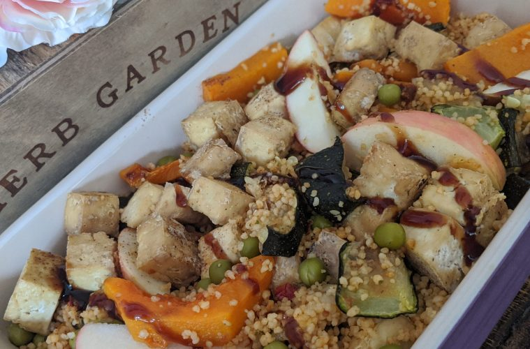 Delicious Roasted Marrow and Vegetable Quinoa Salad