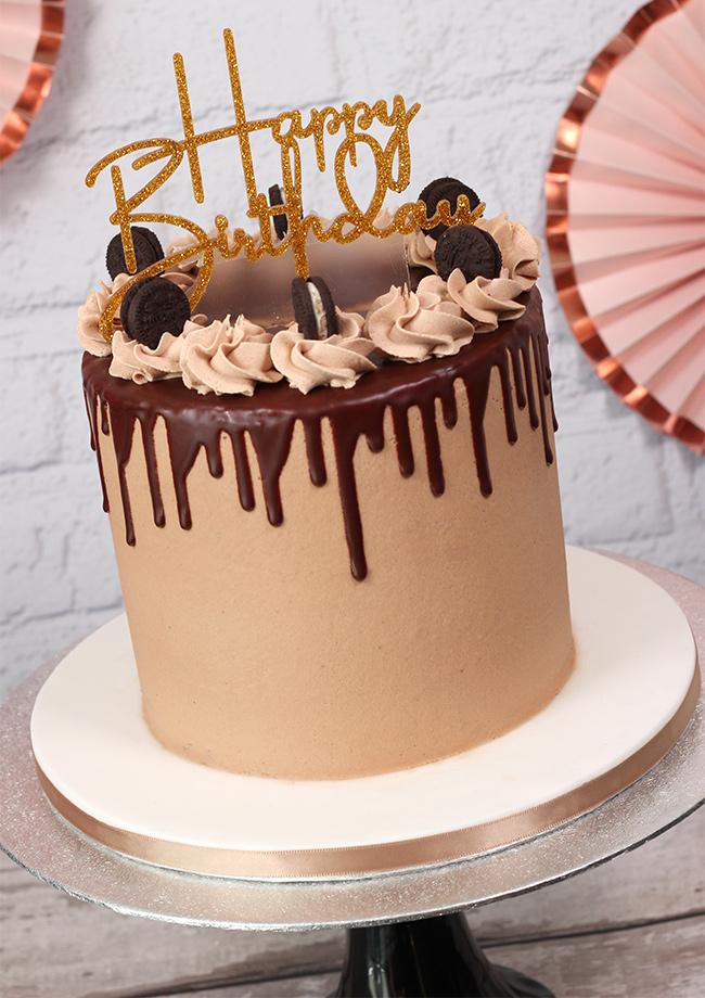 Oreo Chocolate Drip Cake Cakey Goodness