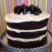 Naked cookies and cream cake