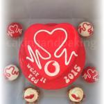 British Heart Foundation - Wear It Red Cake